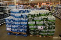 Freedom's Choice bottled water is one of the many products sold under the Defense Commissary Agency's private label program. (Kevin Robinson/DeCA)