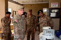 Gen. Joseph Votel, commander of U.S. Central Command, visits North Waziristan, Pakistan on Aug. 19. (Pakistan Army photo)