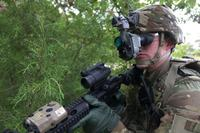 Soldier wearing the Enhanced Night Vision Goggles. (U.S. Army Photo)