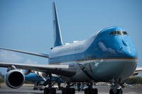 Air Force One refuels at Joint Base Pearl Harbor-Hickam, Hawaii, on President Donald Trump's return to Washington D.C. from the North Korea summit, June 12, 2018. (U.S. Air Force photo/Brittany A. Chase)