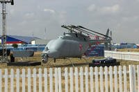 North Grumman's Fire Scout drone helicopter is displayed recently during the Royal International Air Tattoo at RAF Fairford, England. Photo by Oriana Pawlyk/Military.com