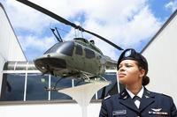 2nd Lt. Kayla Freeman, the first black female pilot in the Alabama National Guard, stands at the U.S. Army Aviation Center of Excellence, Fort Rucker, Alabama, June 21, 2018, after her graduation from the aviation school. (U.S. Army/1st Lt. Jermaine Thurston)