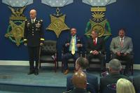 Mr. Ray Seabolt, Mr. Tony Dunne, and Mr. Tim Nix will be presented the Secretary of Defense Medal for Valor, the highest civilian award for valor presented by the Department of Defense. (Screenshot from DoD video)