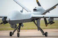 An Air Force Special Operations Command MQ-9 Reaper taxis. (U.S. Air Force photo/Dennis Henry)