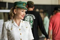 Caitlin Herbert, a reenactor with Aviation Women's Reserve Squadron-7, sports a World War II era uniform during the 2018 Marine Corps Air Station Miramar Air Show at MCAS Miramar, Calif., Sept. 28, 2018. (U.S. Marine Corps photo/Maritza Vela)