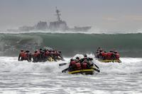 Basic Underwater Demolition/SEAL students participate in surf passage at Naval Amphibious Base Coronado. (U.S. NavyMass Communication Specialist 1st Class Michael Russell)