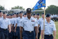 The first groups to experience the Air Force's new, expanded Basic Military Training curriculum say the changes pushed learning outside the classroom, forcing recruits into a greater focus on leadership, collaboration and fitness. (Courtesy Photo)
