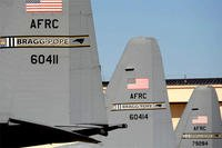C-130 Hercules aircraft display the Fort Bragg-Pope Field tail flashing in March 2011. Air Force planes could be returning to Pope Field. (US Air Force photo/Peter Miller)