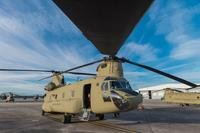 A CH-47 Chinook sits on Hunter Army Airfield prior to a sling load operation, Nov. 6, 2016. (U.S. Army photo/Brian J. Fickel)