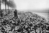Shells on the front lines during World War I