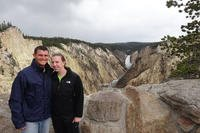 Kendall and John Gomber smile in Yelllowstone National Park, Wyoming. (Photo: Courtesy of John Gomber.)