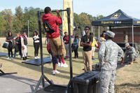 Soldiers of the Army Reserve's 318th Chemical Company out of Birmingham, Alabama recruit at the at the Historically Black Colleges and Universities (HBCU) Magic City football classic event, Oct. 25-29, 2016. (Photo: U.S. Army/Maj. Michael Garcia)