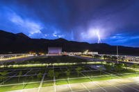 An evening thunderstorm is visible from the U.S. Air Force Academy's Fairchild Hall June 20, 2017, in Colorado Springs, Colo. (U.S. Air Force photo/Jason Gutierrez)