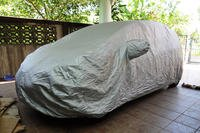 Car under protective cover