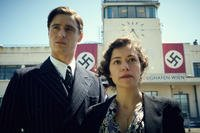 "This photo provided by The Weinstein Company shows, Max Irons, left, and Tatiana Maslany, in a scene from the film, ""Woman in Gold.""  (AP Photo/The Weinstein Company, Robert Viglasky)"